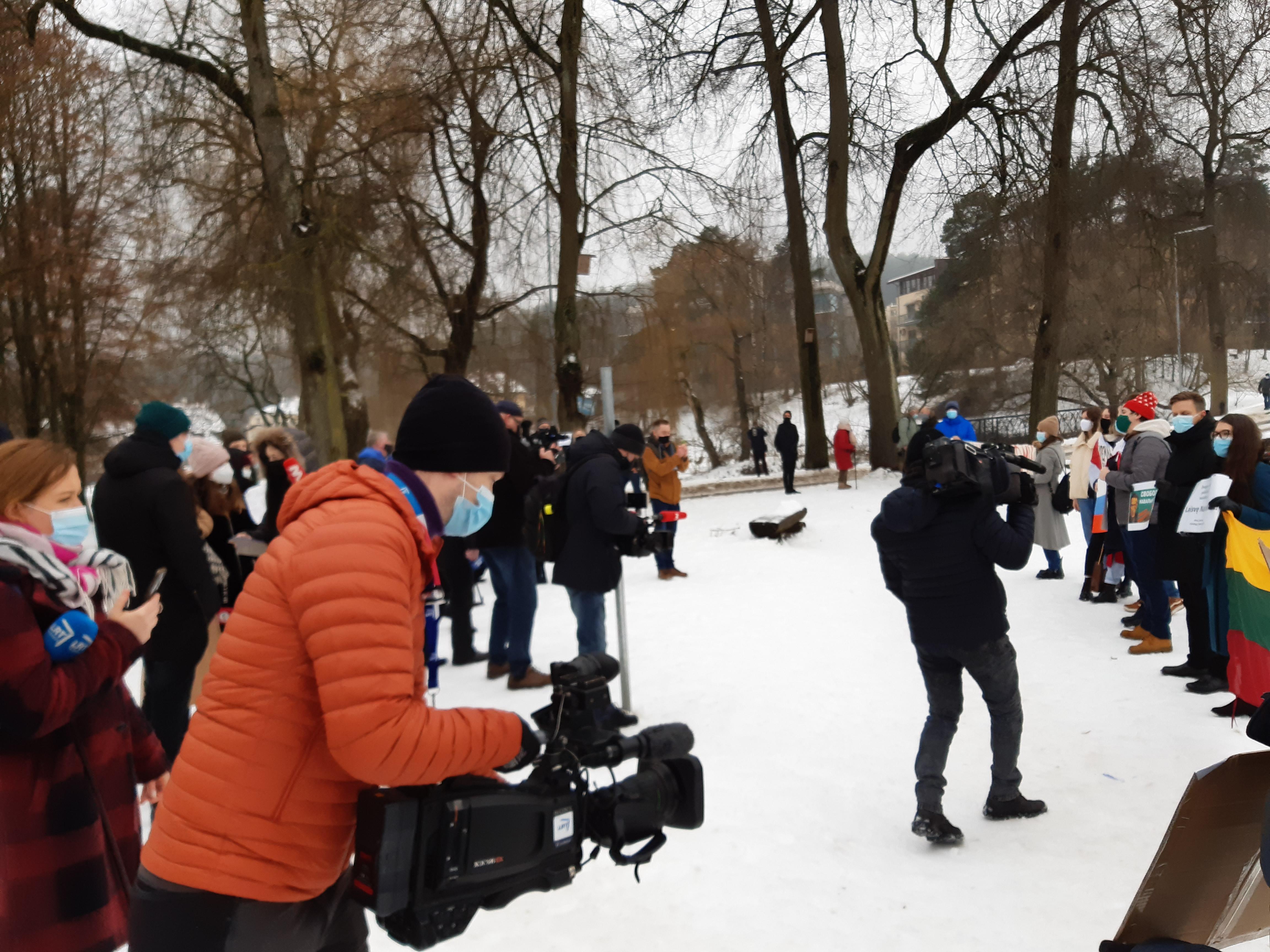 Piketas už laisvę Aleksejui Navalnui, už demokratiją ir žmogaus teises Rusijoje